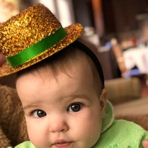 Saint Patricks Day themed hat for baby or infant